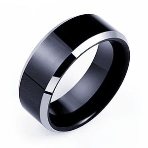 stainless steel ring wide band